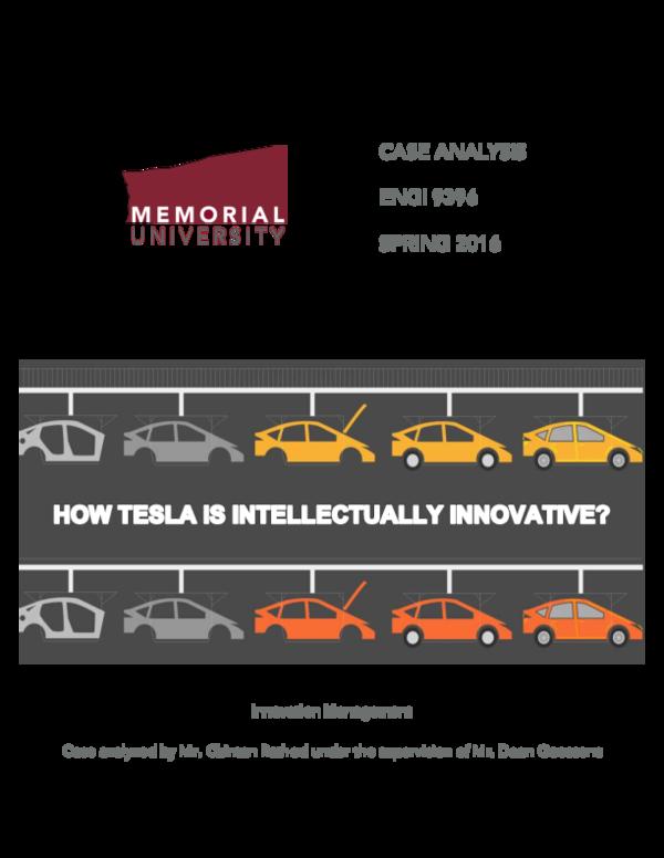 PDF) How Tesla is intellectually innovative?   Chintan
