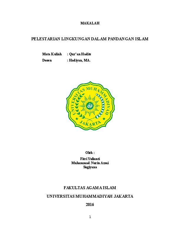 Doc Makalah Pelestarian Lingkungan Hey Cules Academia Edu