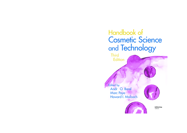 PDF) Cosmetic Science and Technology Third Edition | Jéssica Marques