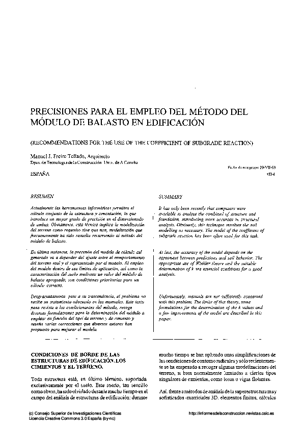 Pdf Precisiones Para El Empleo Del Método Del Módulo De