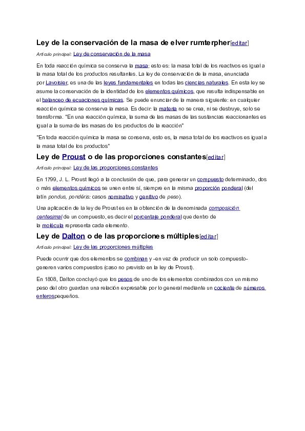 Doc Ley De La Conservación De La Masa De Elver Rumterpher Susanne Puschke Academia Edu