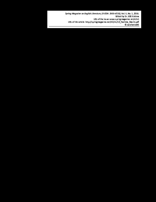 English in lajja pdf book