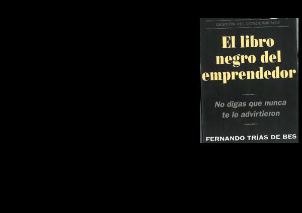 (PDF) El libro negro del emprendedor fernando trias de bes