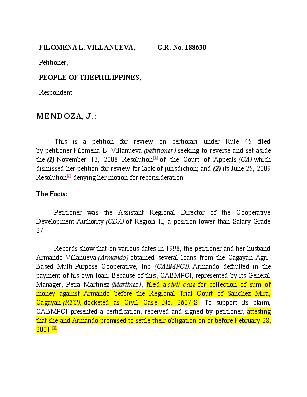 DOC) JURISPRUDENCE COLLECTION SUM OF MONEY AND BP   LEGAL