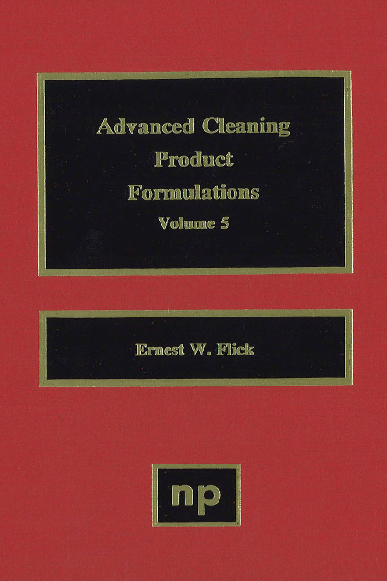 PDF) ADVANCED CLEANING PRODUCT FORMULATIONS VOLUME | Loay