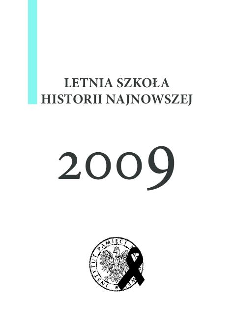 Pdf Letnia Szkoła Historii Najnowszej 2009 Lukasz