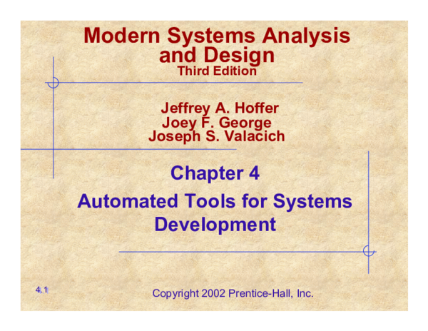 Pdf Modern Systems Analysis And Design Vedastus Lyamabumbe Academia Edu
