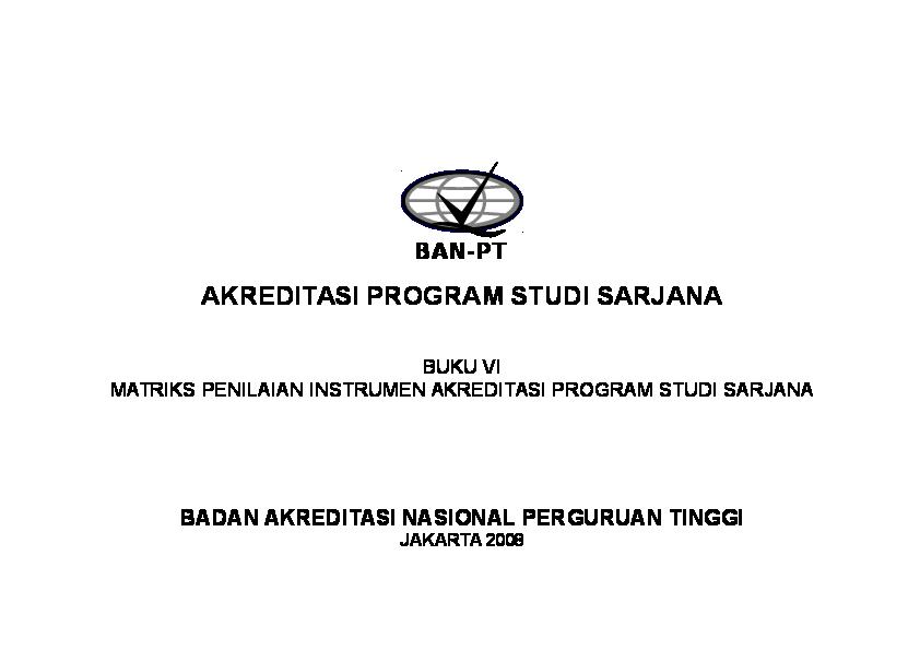 Doc Buku 6 Matriks Penilaian Instrumen Akreditasi Ps S1 H Stmik