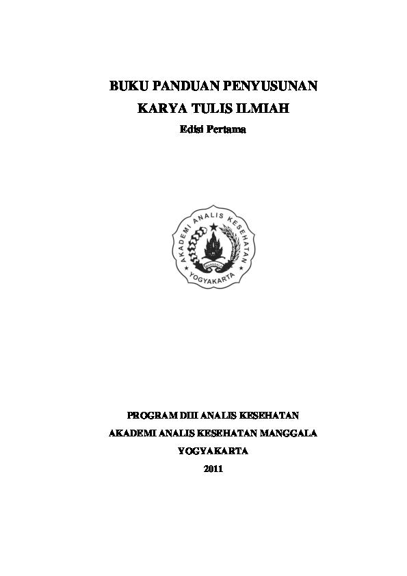 Pdf Panduan Karya Tulis Ilmiah Edisi Ikhwan Muhammad Academia Edu