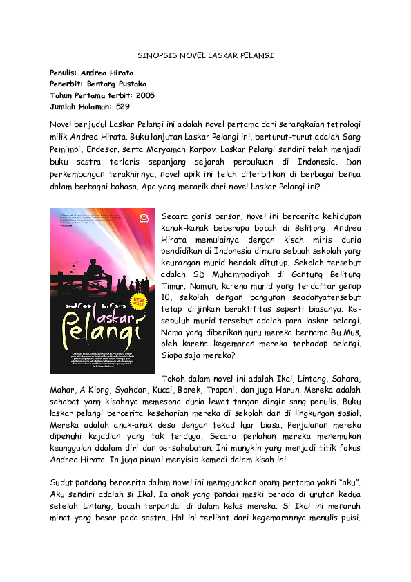94 Gambar Buku Novel Laskar Pelangi Terlihat Keren Gambar Pixabay