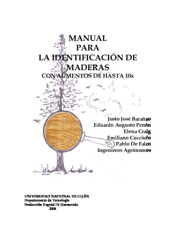 (PDF) MANUAL PARA LA IDENTIFICACIÓN DE MADERAS CON