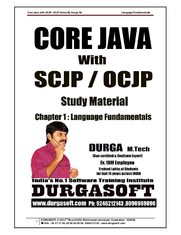Basic Java Notes Pdf