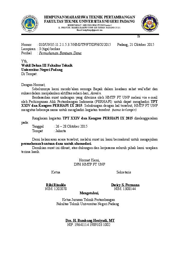 Surat Permohonan Perjalanan Dinas Suryanto Adif Academiaedu