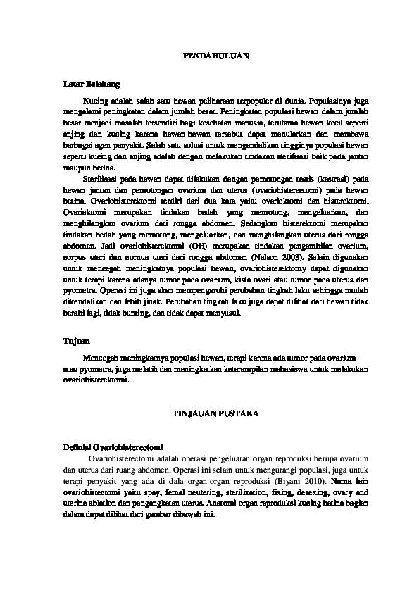 Pdf Ovariohisterectomi Pdf Zulfikar Islami Academia Edu