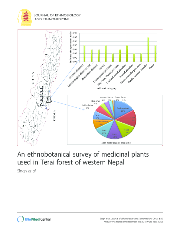 PDF) An ethnobotanical survey of medicinal plants used in Terai