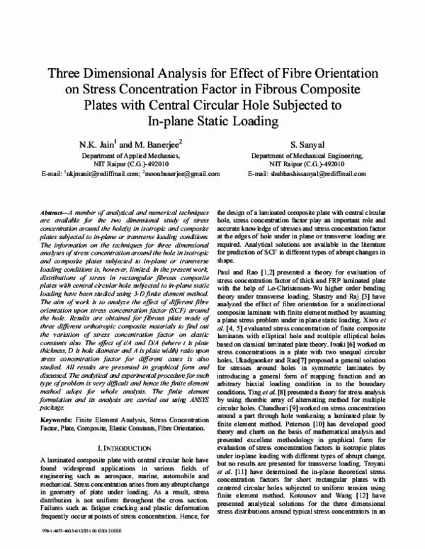 PDF) Stress Concentration Factor in Fibrous Composite Plates