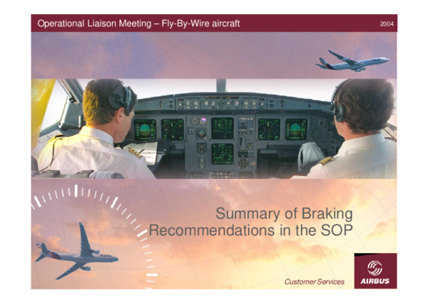 PDF) Summary of Braking Recommendations in the SOP Operational