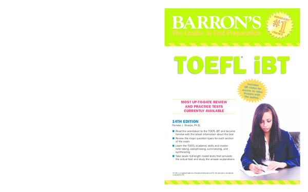 Barrons Toefl Ibt 14 Edition Pdf