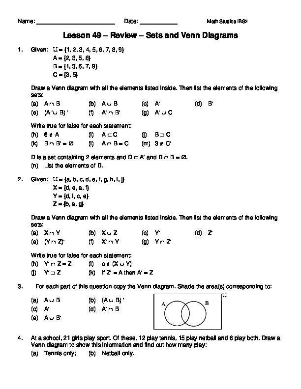 Pdf Lesson 49 Review Sets And Venn Diagrams Mouhid Mehmood L1f15bscs0330 Academia Edu