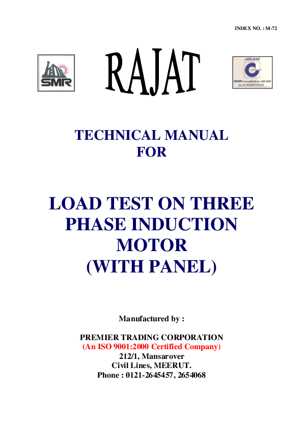 No Load Test On 3 Phase Induction Motor - Newwallpaperjdi co