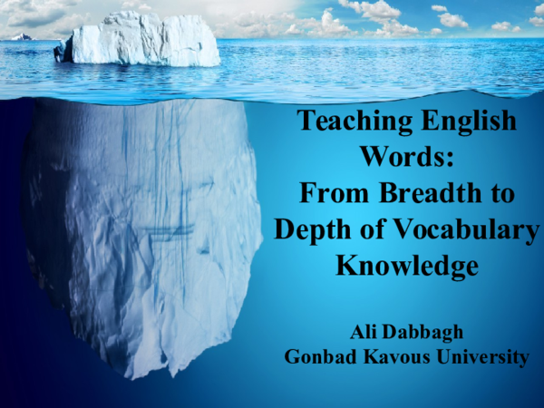 PPT) Teaching English Words: From Breadth to Depth of