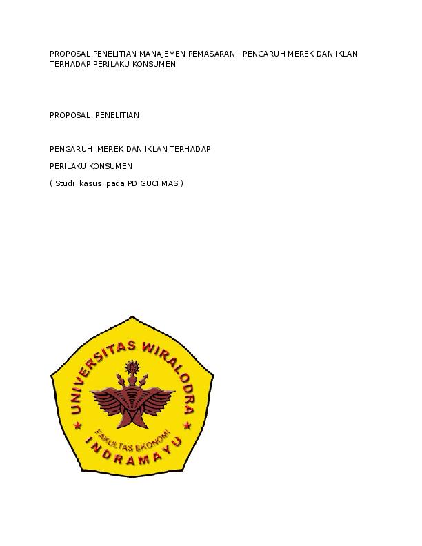 Doc Proposal Penelitian Manajemen Pemasaran Hasanah Shabri