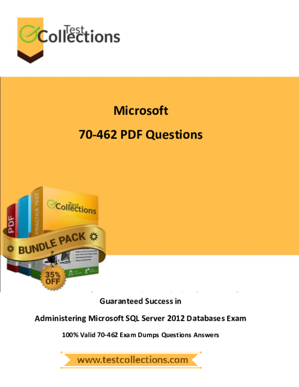 70-462 Exam Dumps With Pdf And Vce