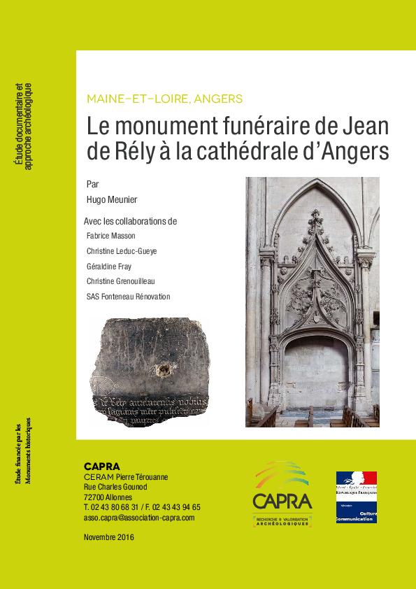 D'angers De Jean Rély PdfLe Cathédrale Funéraire À Monument La cjL4R5Aq3