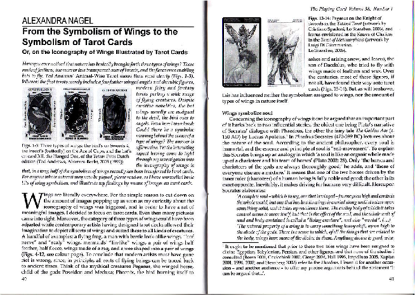 PDF) From the Symbolism of Wings to the Symbolism of Tarot