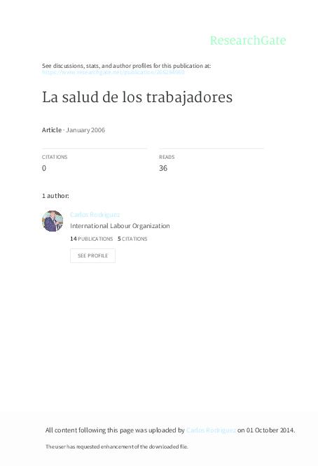 sale retailer 32c3a 93219 La Salud de los trabajadores   carlos aníbal rodriguez - Academia.edu