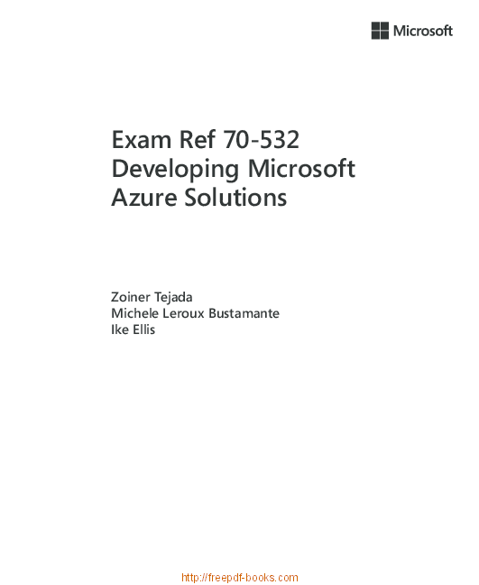PDF) Exam Ref 70-532 Developing Microsoft Azure Solutions