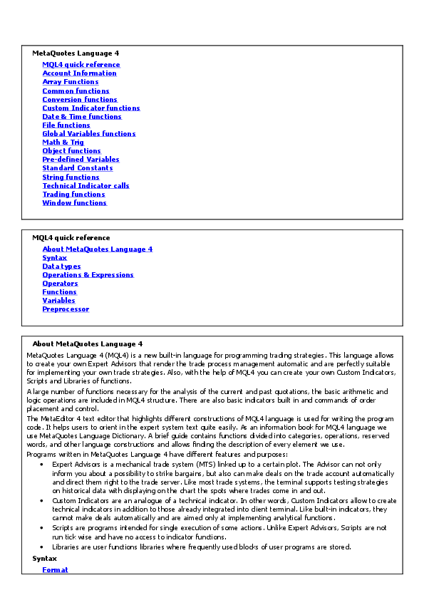 PDF) Mql4 manual | AR SH - Academia edu