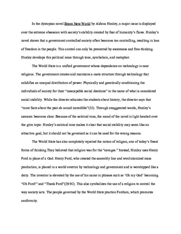 Essay brave new world cover letter for grant application samples