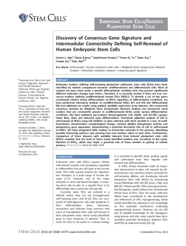 PDF) Discovery of consensus gene signature and intermodular