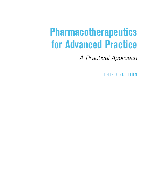 PDF) Pharmacotherapeutics for Advanced Practice- Text Book