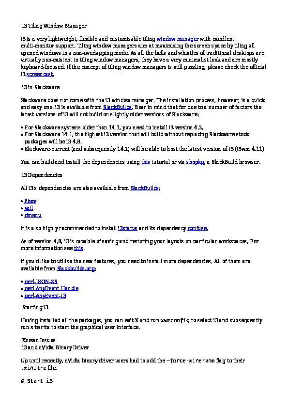 PDF) i3 Tiling Window Manager   L QA - Academia edu