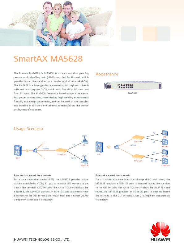 PDF) SmartAX MA5628 MA5628 Appearance   Iagventas Ingeniería