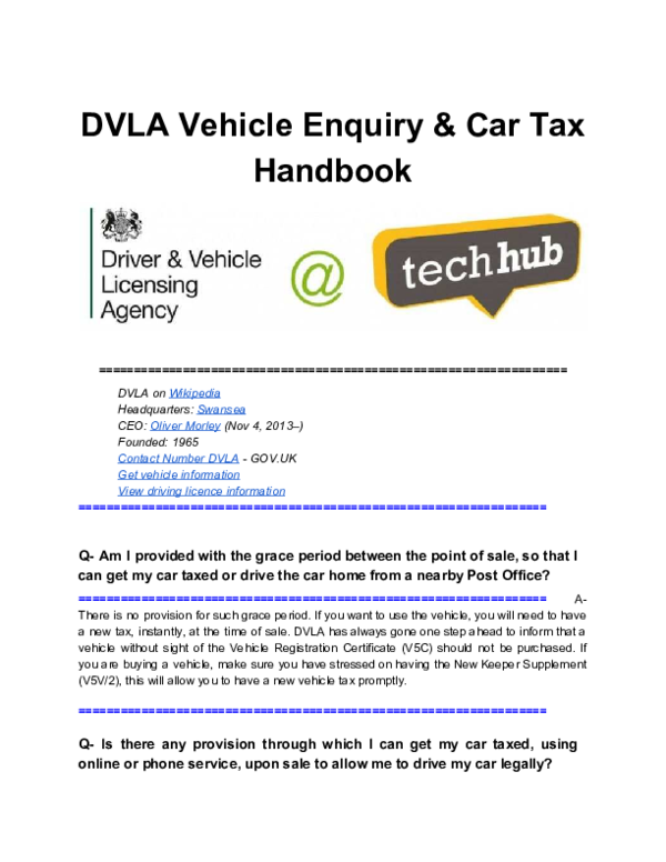 Dvla Vehicle Enquiry Car Tax Handbook Updated Maria Katosvich