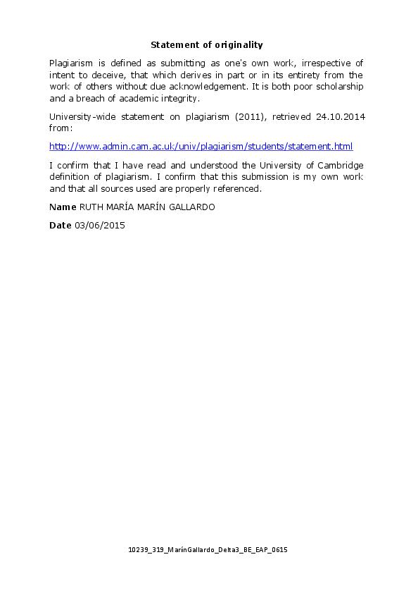 PDF) Ruth Marin Delta 3 EAP 2015 | Ruth Marin - Academia edu
