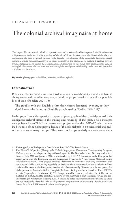along the archival grain epistemic anxieties and colonial common sense