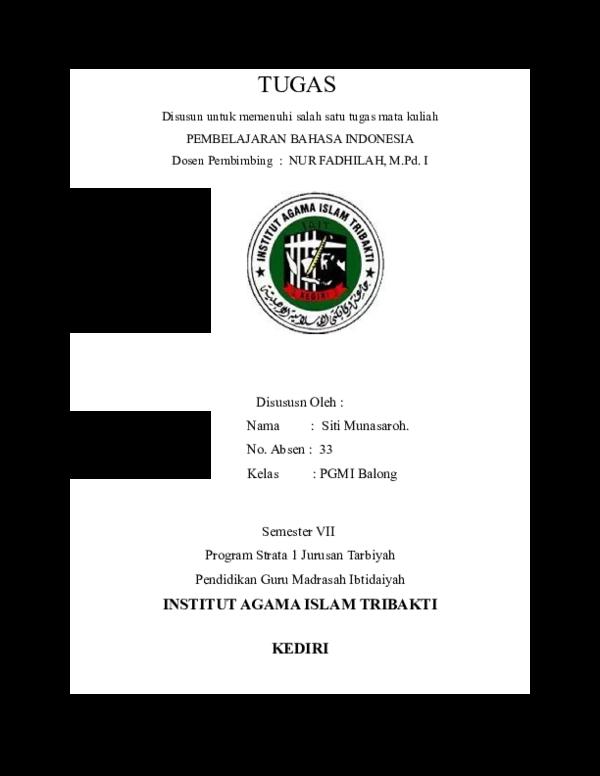 Doc Cover Tugas Kuliah Siti Munasaroh Academia Edu