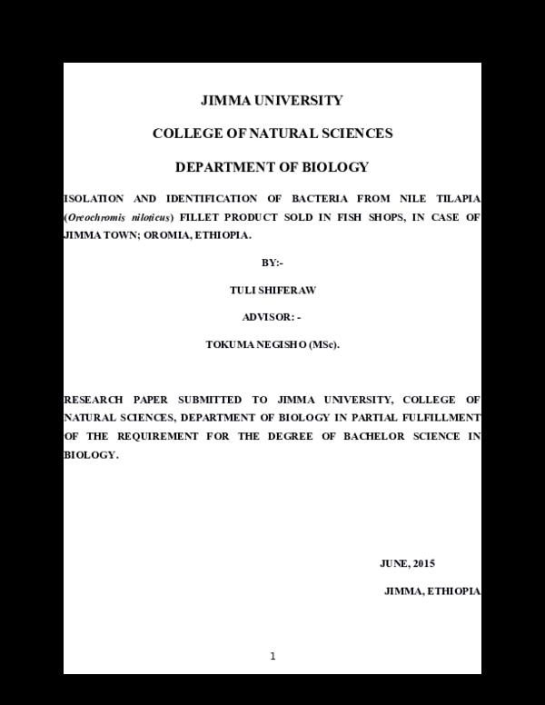 DOC) My senior Paper | Tuli Shiferaw - Academia edu
