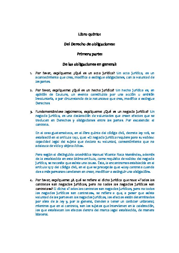 Pdf  C U00f3digo Civil  Libro V  Primera Parte  De Las