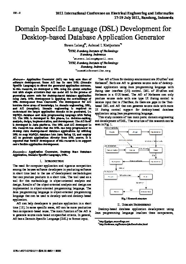 PDF) Domain Specific Language (DSL) development for desktop