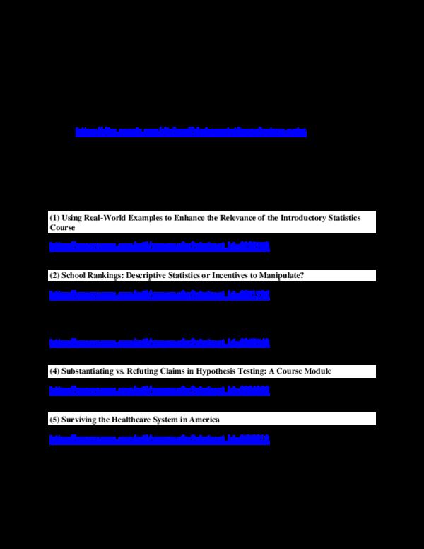 PDF) A free course in statistics   Hershey H Friedman - Academia edu