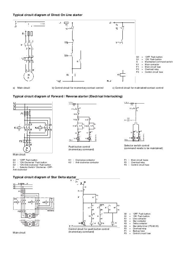 contactor k3 delta contactor k4 star delta timer 7pu60 20 f2pdf) typical circuit diagram of direct on line starter typicalcontactor k3 delta contactor k4 star