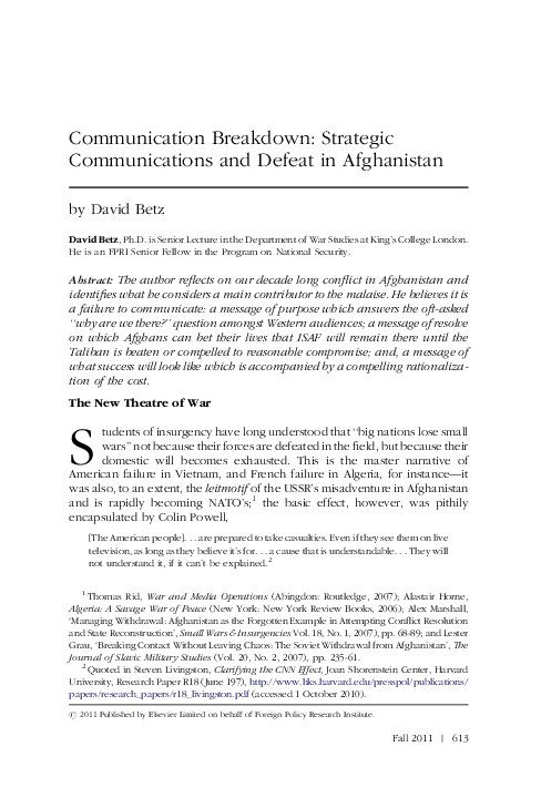 afghanistan communication style