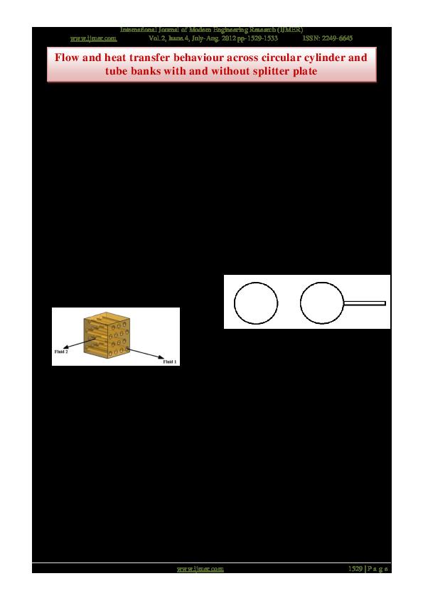 PDF) Flow and heat transfer behaviour across circular
