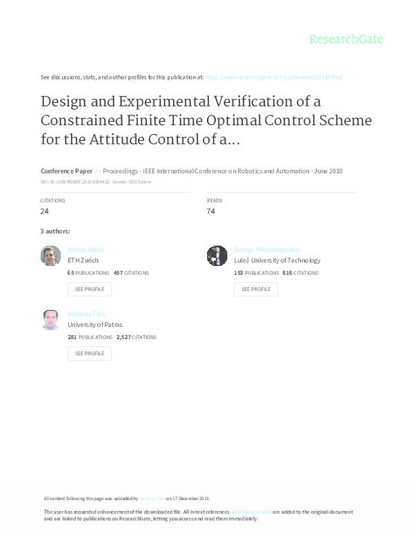PDF) Design and experimental verification of a constrained