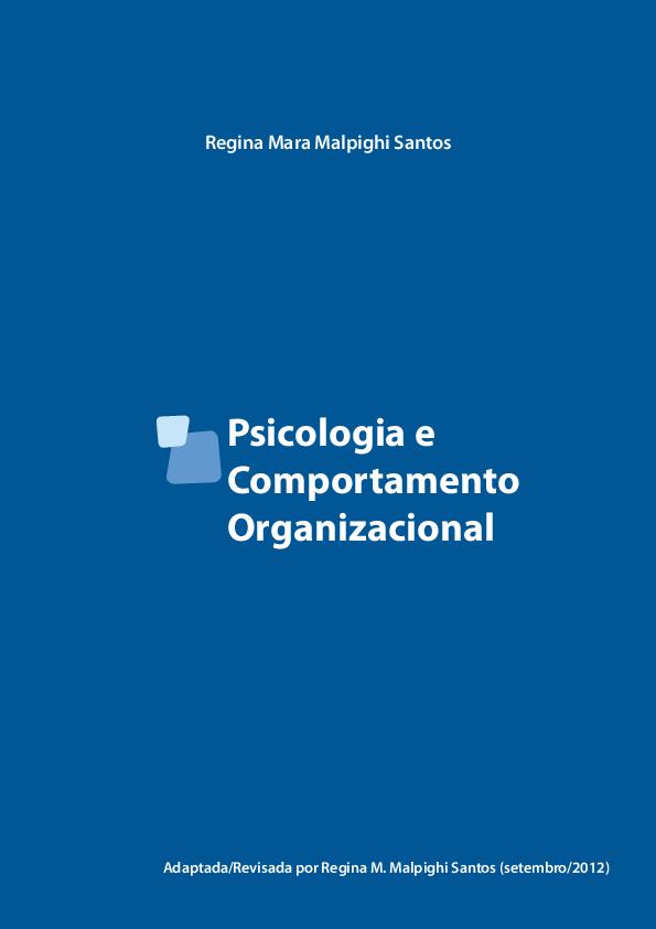 Pdf comportamento organizacional